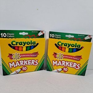 2-Crayola 10 ct classic colors markers Broad tip